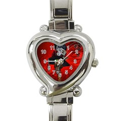 Funny, Cute Giraffe With Cool Hat Heart Italian Charm Watch