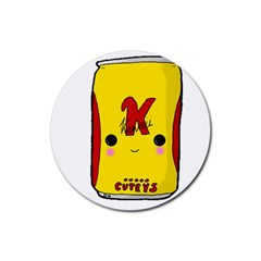 Kawaii Cute Tennants Lager Can Rubber Round Coaster (4 Pack)