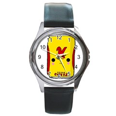 Kawaii Cute Tennants Lager Can Round Metal Watch