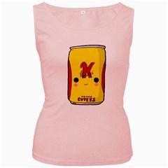 Kawaii Cute Tennants Lager Can Women s Pink Tank Top