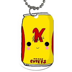 Kawaii Cute Tennants Lager Can Dog Tag (two Sides)