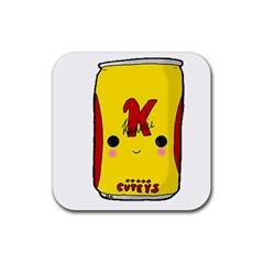 Kawaii Cute Tennants Lager Can Rubber Square Coaster (4 Pack)
