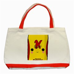 Kawaii Cute Tennants Lager Can Classic Tote Bag (red)