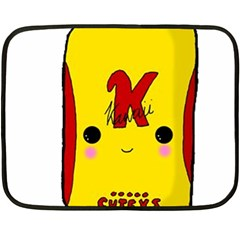 Kawaii Cute Tennants Lager Can Fleece Blanket (mini)