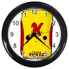 Kawaii Cute Tennants Lager Can Wall Clock (black)