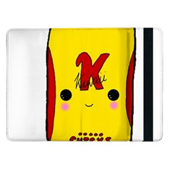 Kawaii Cute Tennants Lager Can Samsung Galaxy Tab Pro 12 2  Flip Case by CuteKawaii1982