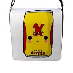 Kawaii Cute Tennants Lager Can Flap Messenger Bag (l)