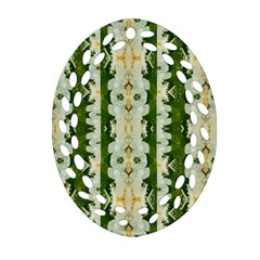 Fantasy Jasmine Paradise Bloom Oval Filigree Ornament (two Sides) by pepitasart