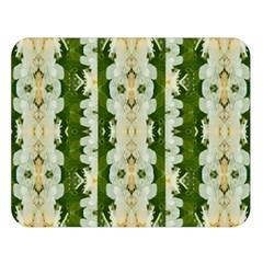 Fantasy Jasmine Paradise Bloom Double Sided Flano Blanket (large)