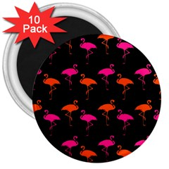 Flamingos Tropical Sunset Colors Flamingo 3  Magnets (10 Pack)