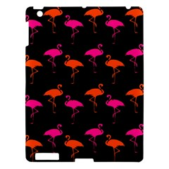 Flamingos Tropical Sunset Colors Flamingo Apple Ipad 3/4 Hardshell Case by CrypticFragmentsColors