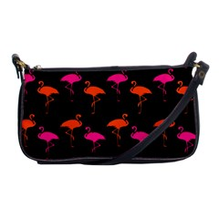 Flamingos Tropical Sunset Colors Flamingo Shoulder Clutch Bags
