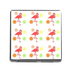 Flamingo Tropical Fruit Pattern Memory Card Reader (square 5 Slot)