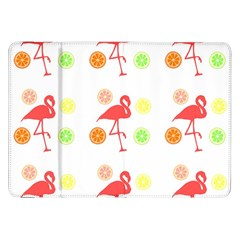 Flamingo Tropical Fruit Pattern Samsung Galaxy Tab 8 9  P7300 Flip Case by CrypticFragmentsColors