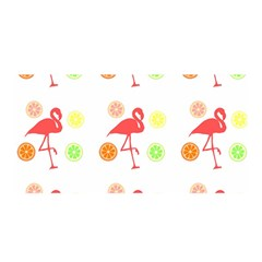 Flamingo Tropical Fruit Pattern Satin Wrap