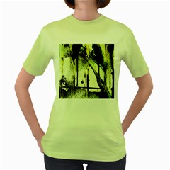 There Is No Promissed Rain 5 Women s Green T Shirt