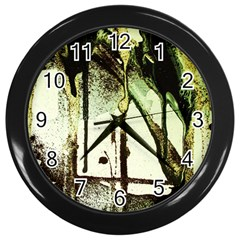 There Is No Promissed Rain 5 Wall Clock (black)