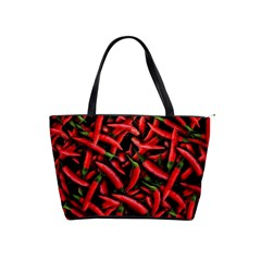 Red Chili Peppers Pattern Shoulder Handbags