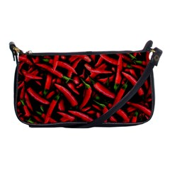 Red Chili Peppers Pattern Shoulder Clutch Bags