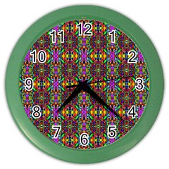 E 4 Color Wall Clock