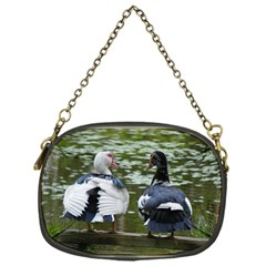 Muscovy Ducks At The Pond Chain Purses (one Side)