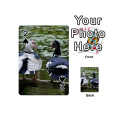 Muscovy Ducks At The Pond Playing Cards 54 (mini)  by ImphavokImpressions