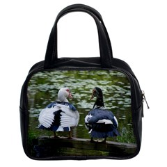 Muscovy Ducks At The Pond Classic Handbags (2 Sides)