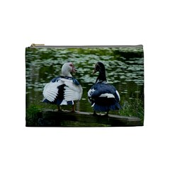 Muscovy Ducks At The Pond Cosmetic Bag (medium)