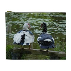 Muscovy Ducks At The Pond Cosmetic Bag (xl)