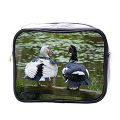 Muscovy Ducks At The Pond Mini Toiletries Bags