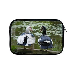 Muscovy Ducks At The Pond Apple Macbook Pro 13  Zipper Case by ImphavokImpressions