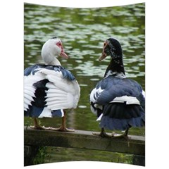 Muscovy Ducks At The Pond Back Support Cushion by ImphavokImpressions