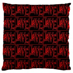 Love 2 Large Flano Cushion Case (two Sides)