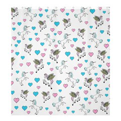 Unicorn, Pegasus And Hearts Shower Curtain 66  X 72  (large)