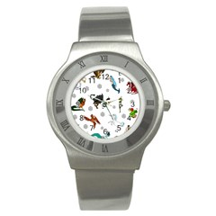 Dundgeon And Dragons Dice And Creatures Stainless Steel Watch