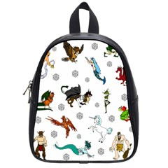 Dundgeon And Dragons Dice And Creatures School Bag (small)