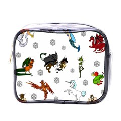 Dundgeon And Dragons Dice And Creatures Mini Toiletries Bags