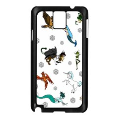 Dundgeon And Dragons Dice And Creatures Samsung Galaxy Note 3 N9005 Case (black) by ImphavokImpressions