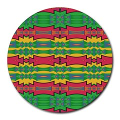 Shapes Rows Pattern                                       Round Mousepad
