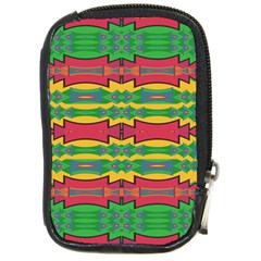 Shapes Rows Pattern                                       Compact Camera Leather Case