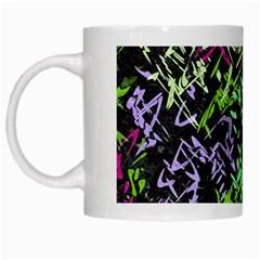 Misc Shapes On A Black Background                                         White Mug by LalyLauraFLM
