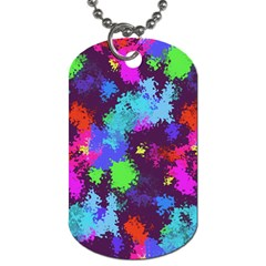 Paint Spots Texture                                         Dog Tag (one Side)