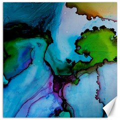 Blue Green Ink                                          Canvas 12  X 12
