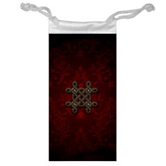 Decorative Celtic Knot On Dark Vintage Background Jewelry Bags