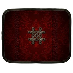 Decorative Celtic Knot On Dark Vintage Background Netbook Case (xxl)  by FantasyWorld7
