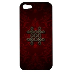 Decorative Celtic Knot On Dark Vintage Background Apple Iphone 5 Hardshell Case by FantasyWorld7