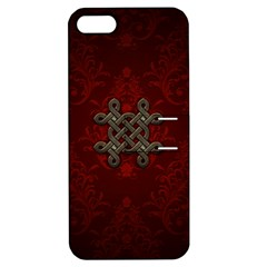 Decorative Celtic Knot On Dark Vintage Background Apple Iphone 5 Hardshell Case With Stand by FantasyWorld7