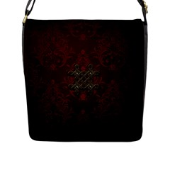 Decorative Celtic Knot On Dark Vintage Background Flap Messenger Bag (l)
