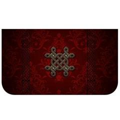 Decorative Celtic Knot On Dark Vintage Background Lunch Bag by FantasyWorld7