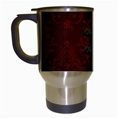 Decorative Celtic Knot On Dark Vintage Background Travel Mugs (white)
